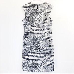 Black Print Dress AGB Animal Print Size 14